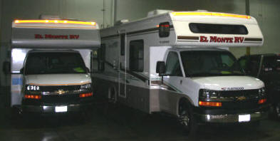 Secure and clean indoor RV Storage.  We even rent El Monte RVs